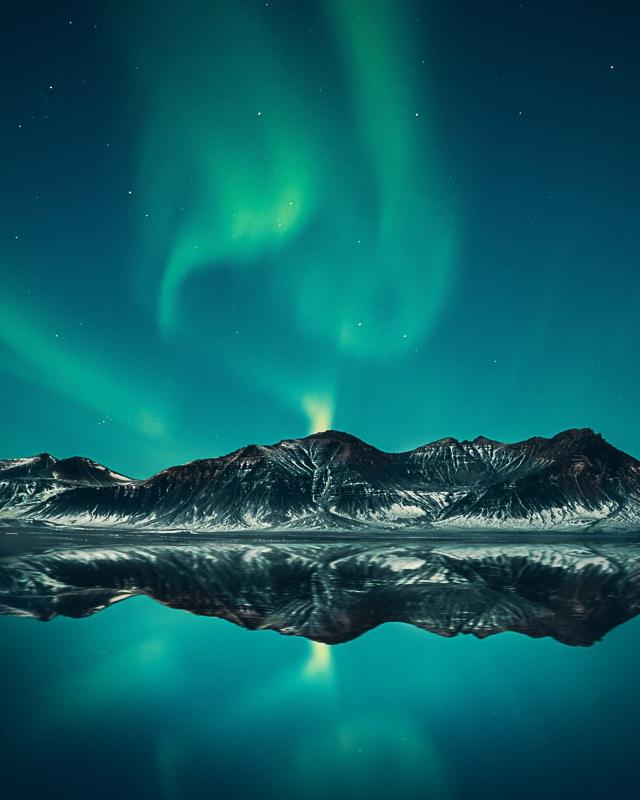 polární záře Norsko