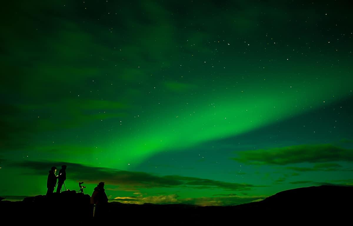 polární záře - Abisko, Švédsko