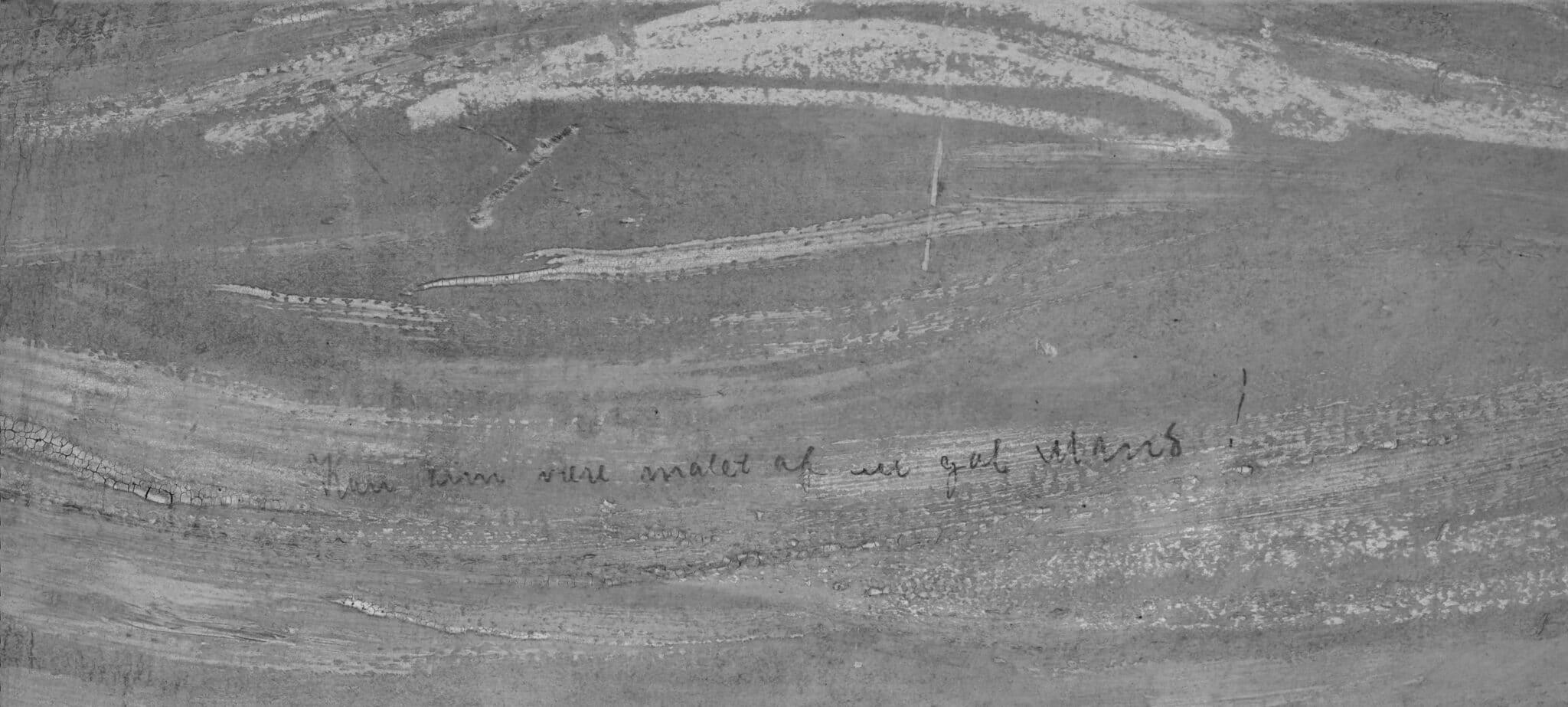 """Nápis """"Mohl být namalován pouze šílencem!"""" na obrazu Výkřik od Edvarda Muncha"""