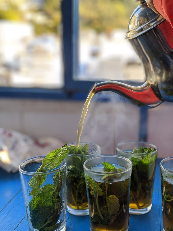 bylinkové čaje - mátový čaj
