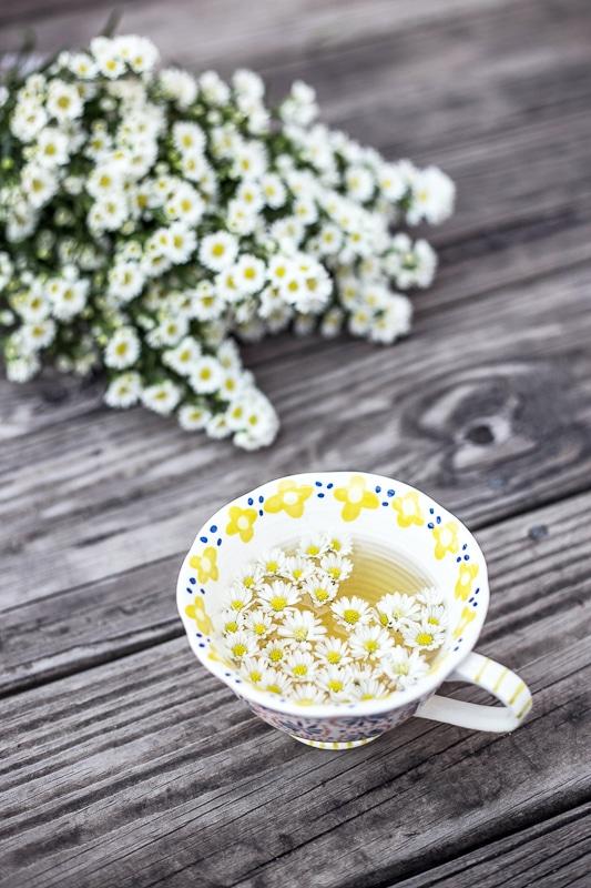 bylinkové čaje - heřmánkový čaj