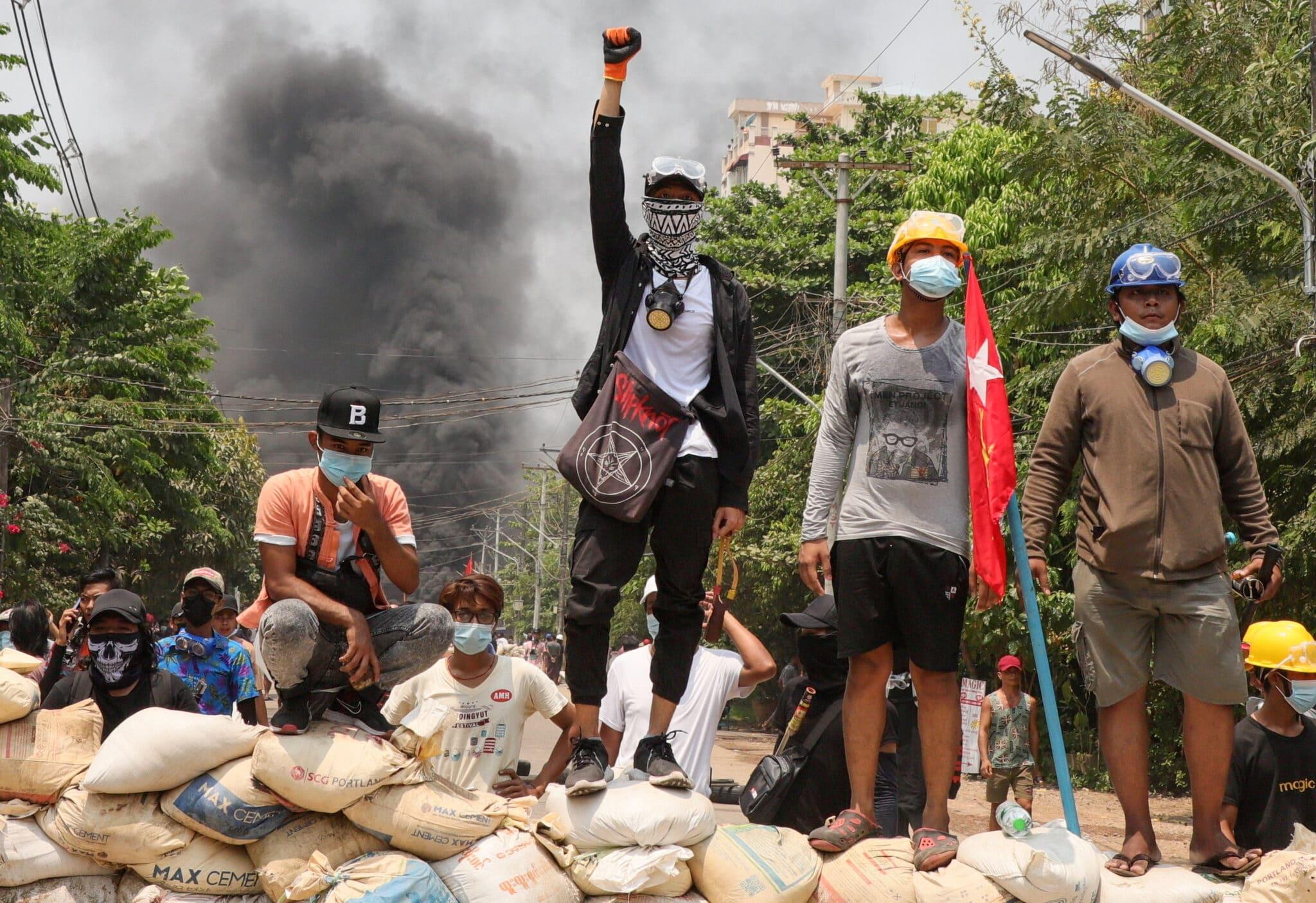 Protesty v Rangúnu