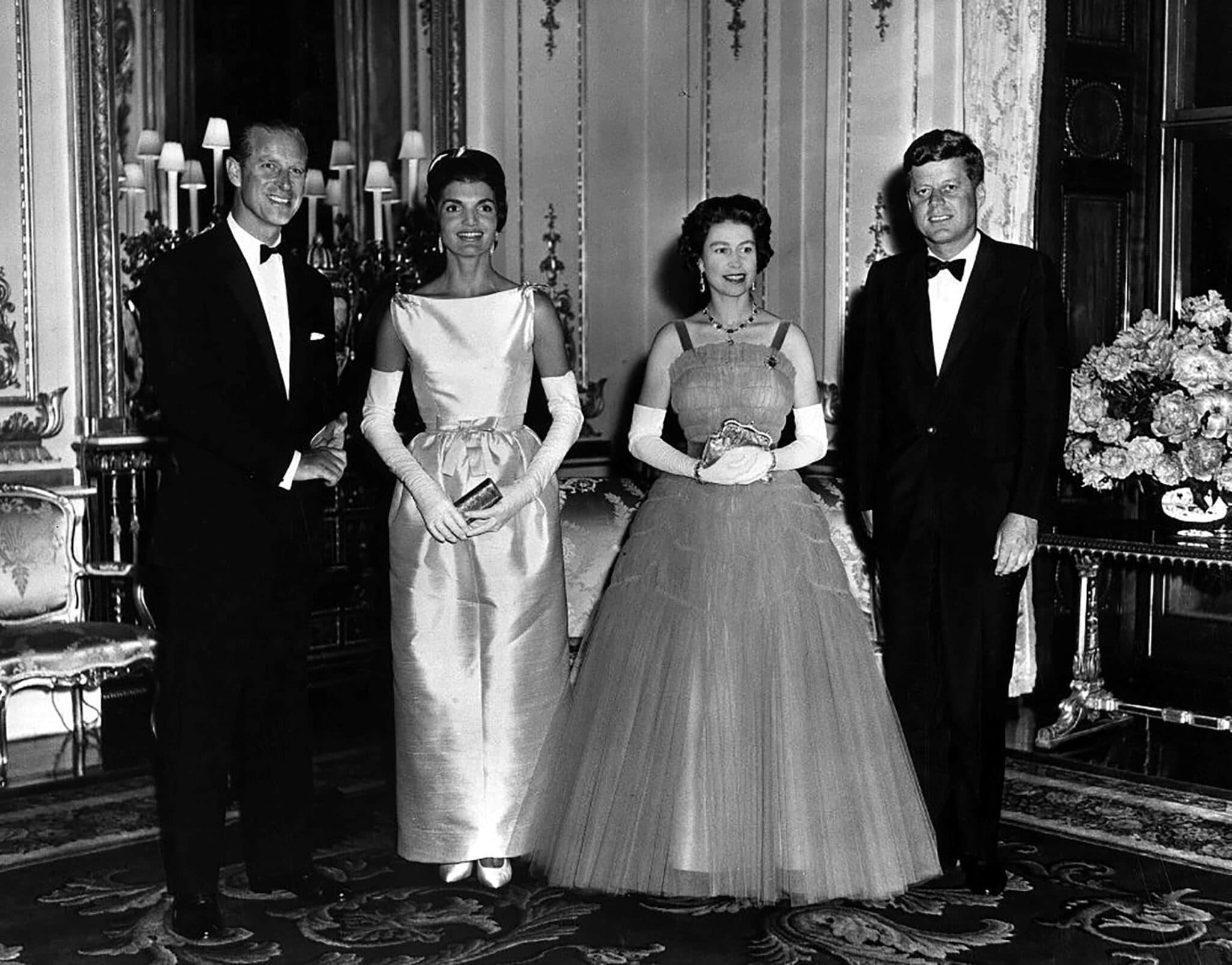Královna Alžběta, princ Philip, John F. Kennedy, Jacqueline Kennedy, Londýn 1961