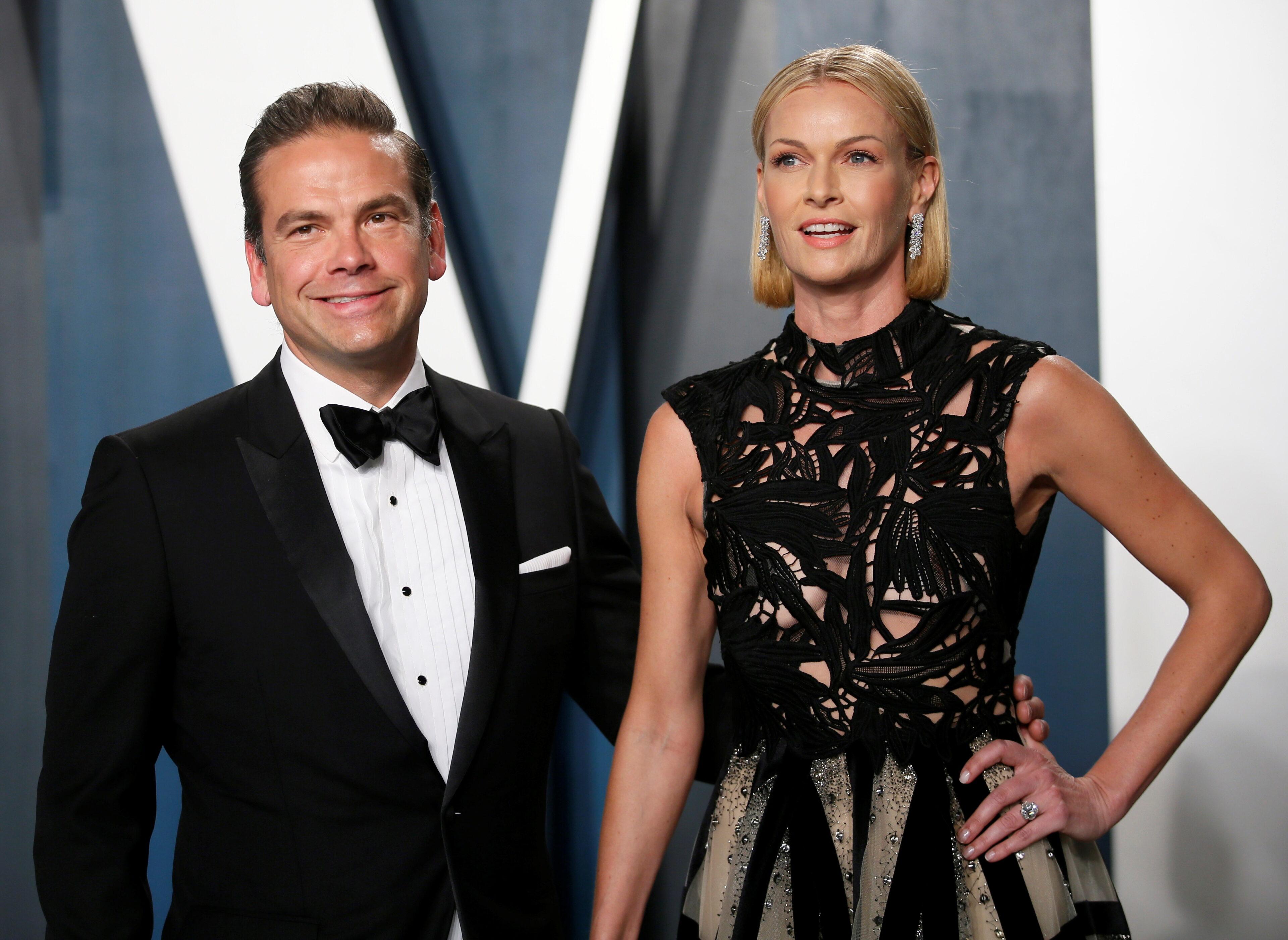 Lachlan Murdoch a Sarah Murdoch na Vanity Fair Oscar party