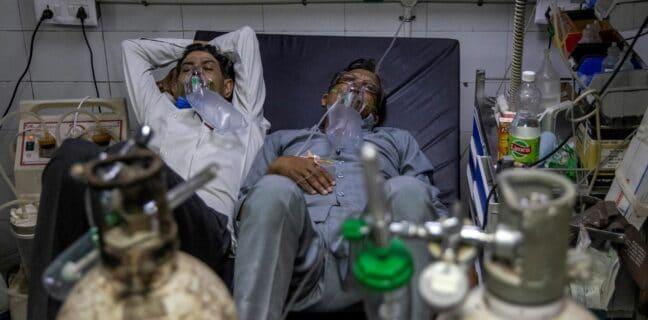 Příval pacientů s covidem-19 v Indii