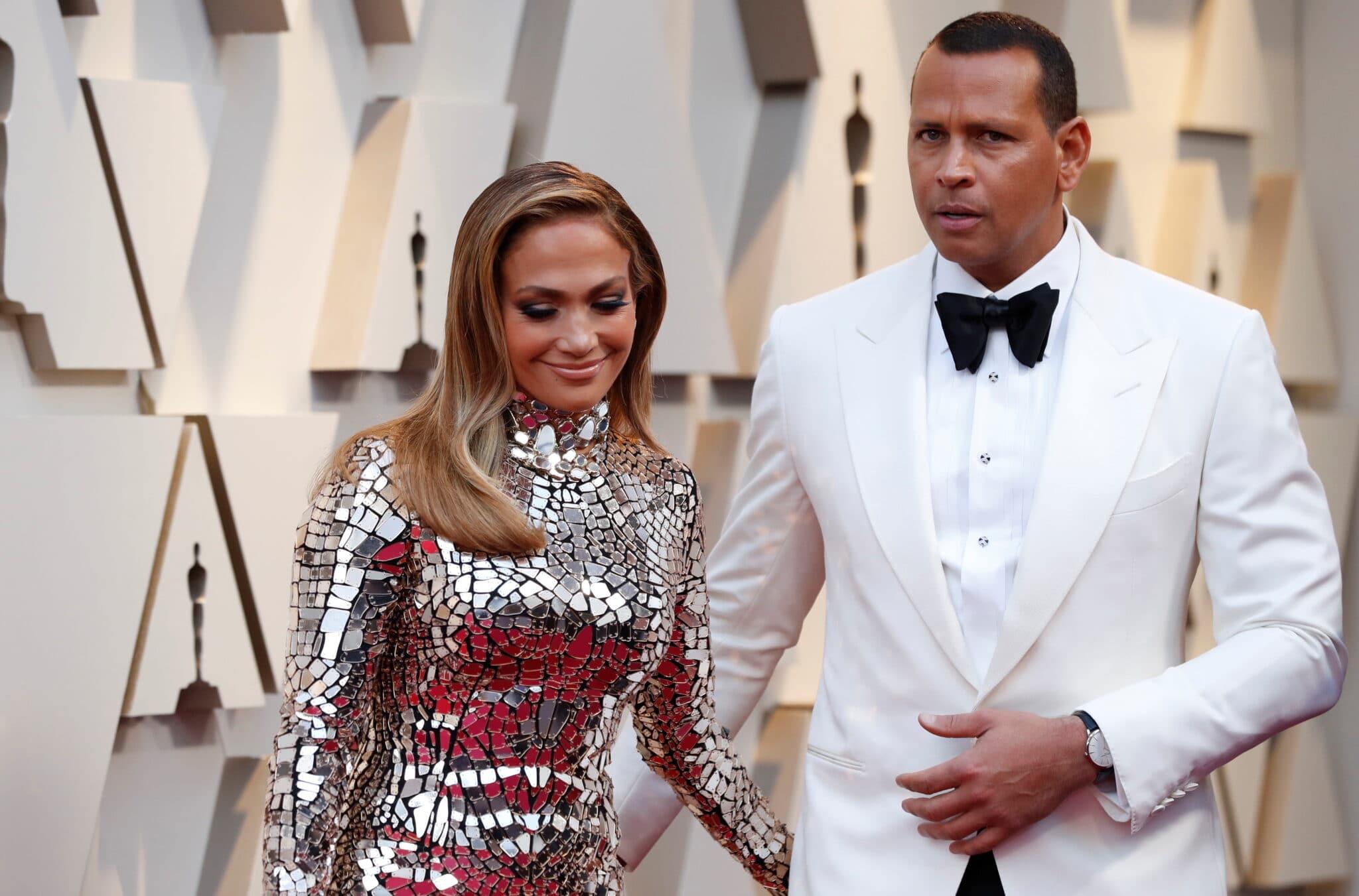 Jennifer Lopez a Alex Rodriguez na Oscarech