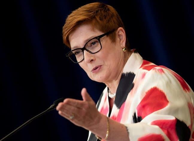 Ministryně zahraničí Austrálie Marise Payne