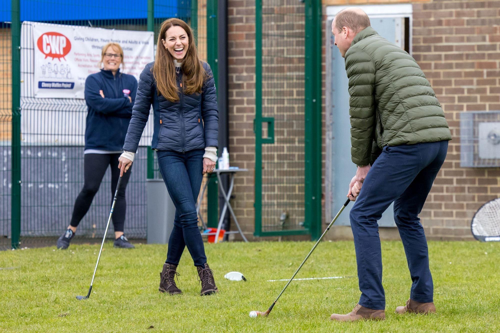 Princ William a vévodkyně Kate, duben 2021