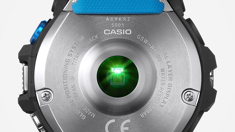 Casio GSW-H1000 - zadní kryt. Foto: Casio