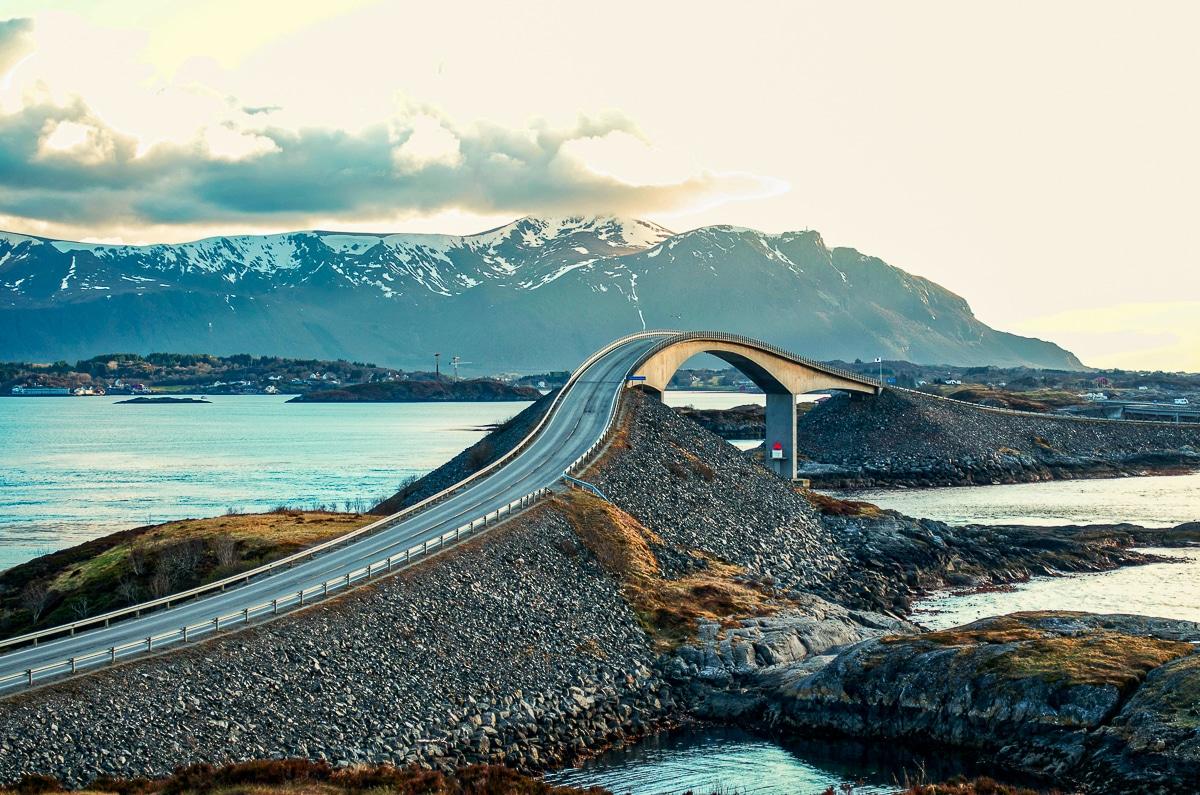 Atlantic Ocean Road, Norsko.