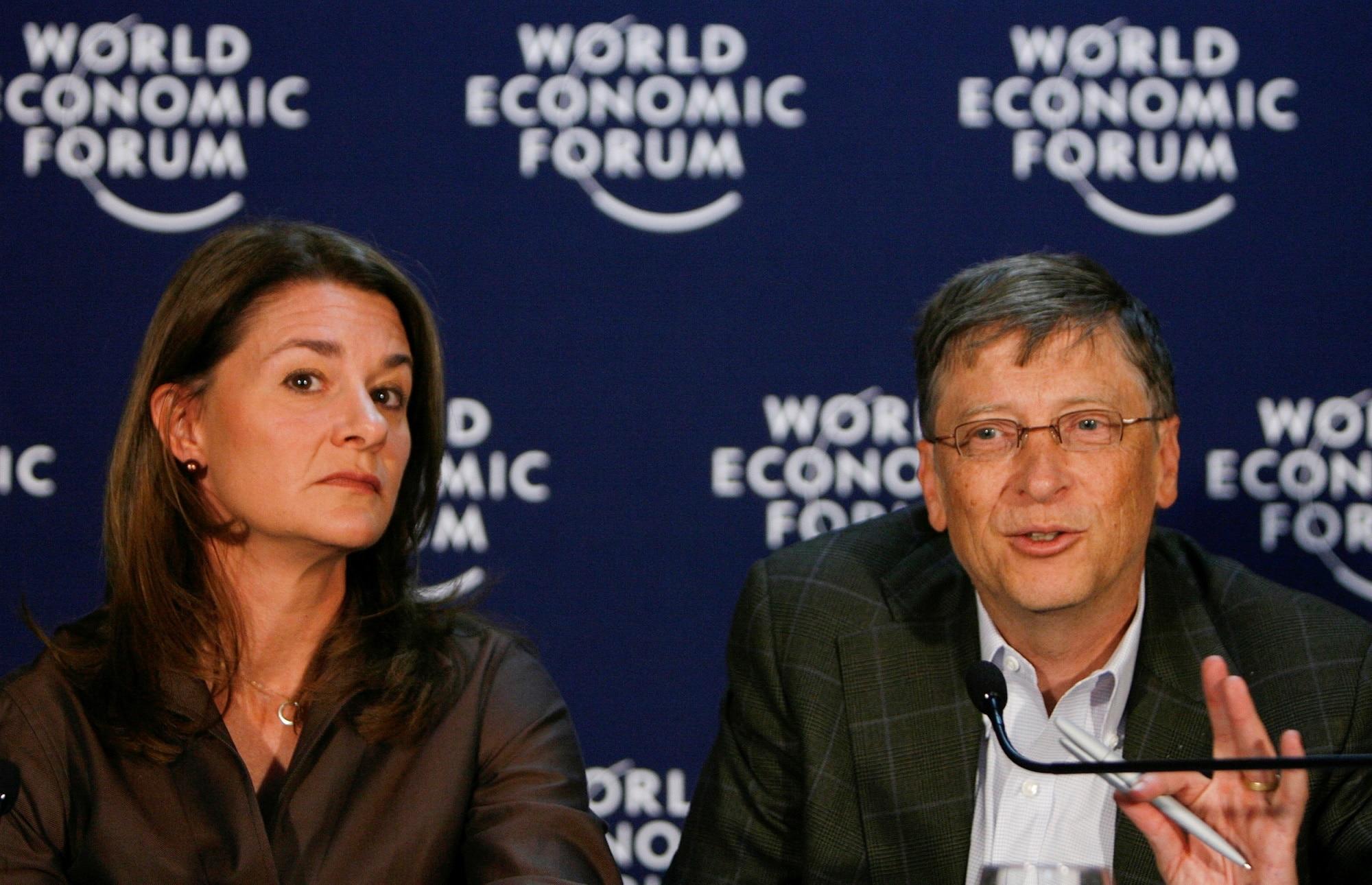 Bill Gates a Melinda Gates na Světovém ekonomickém fóru