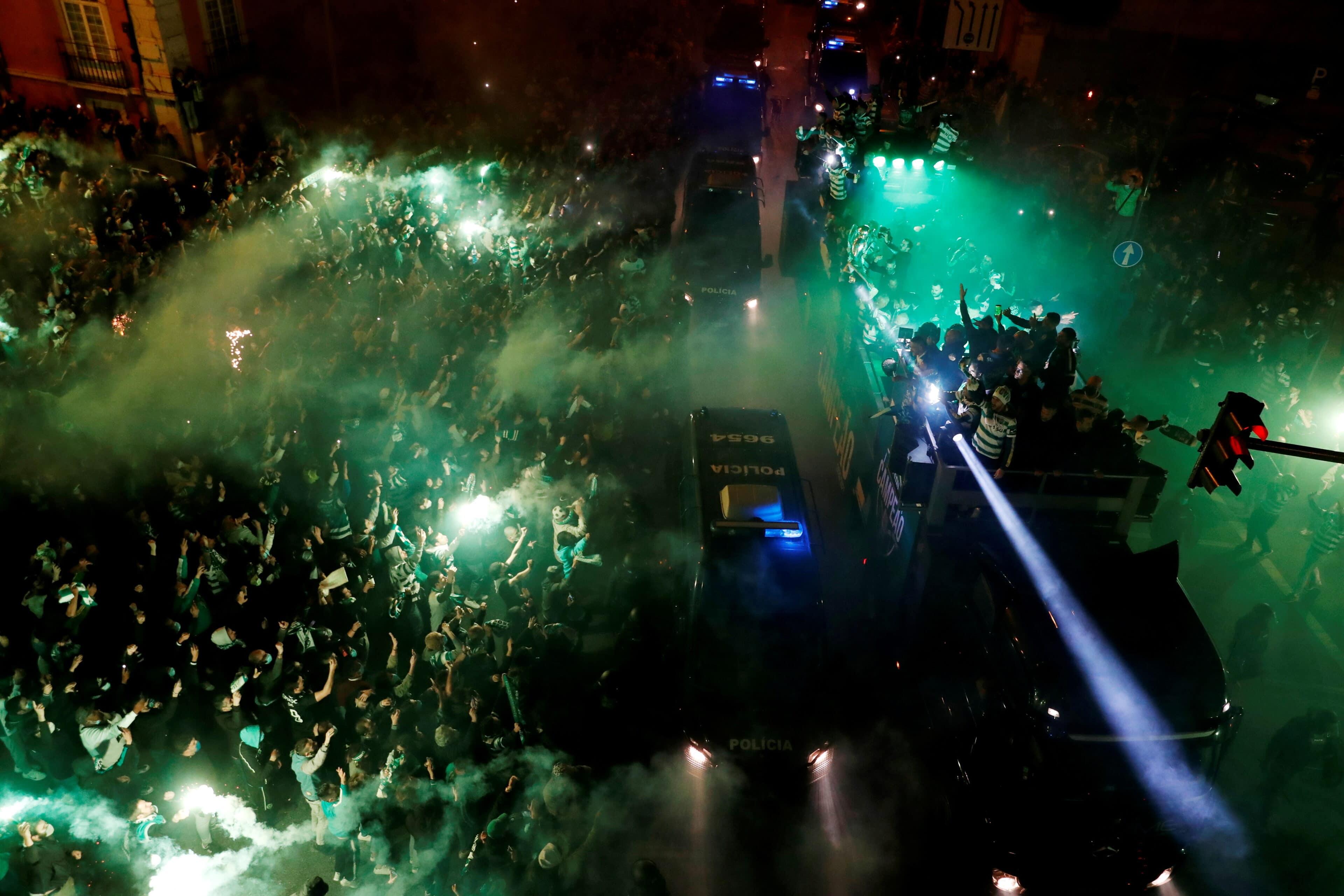 Portugalsko shromažďování fotbalových fanoušků