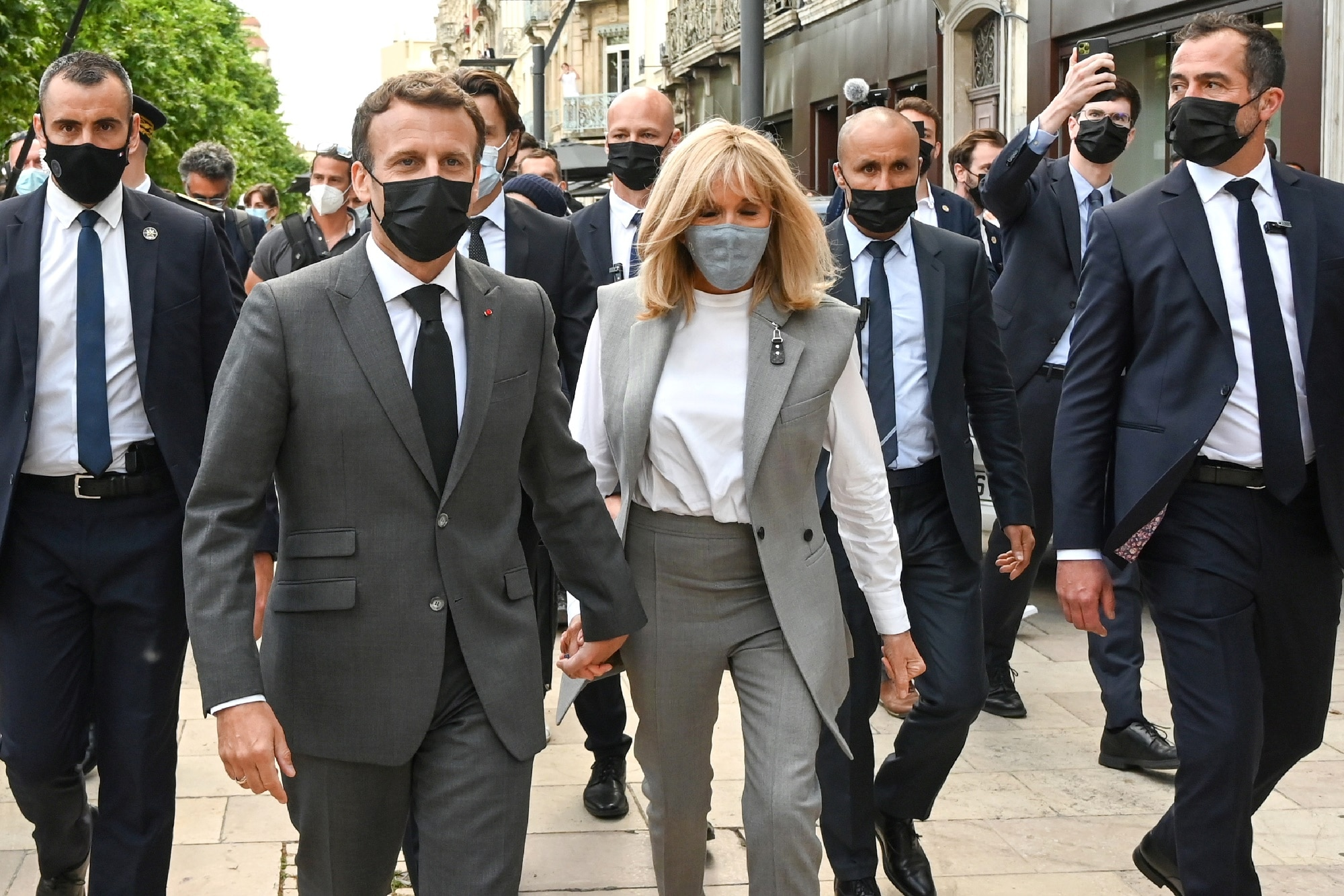 Emmanuel Macron s manželkou Brigitte