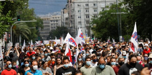 Protesty v Řecku pracovní zákon