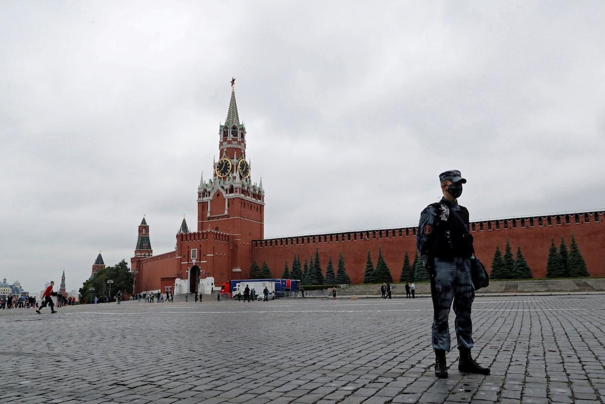 Rudé náměstí po protestu Pavla Kriseviče. Foto: Reuters
