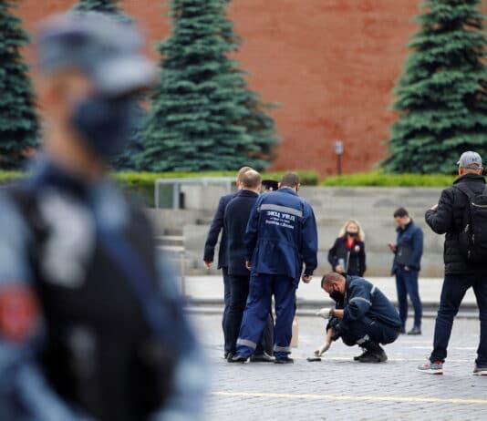 Rudé náměstí po protestu Pavla Kriseviče