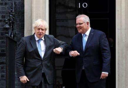 Premiéři Velké Británie a Austrálie
