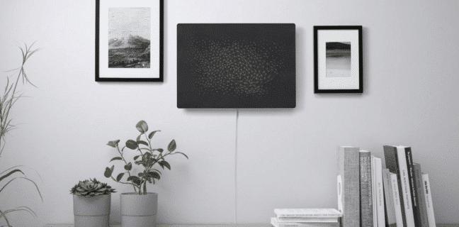 Reproduktor v obrazu pověšený na zdi. Foto: Sonos
