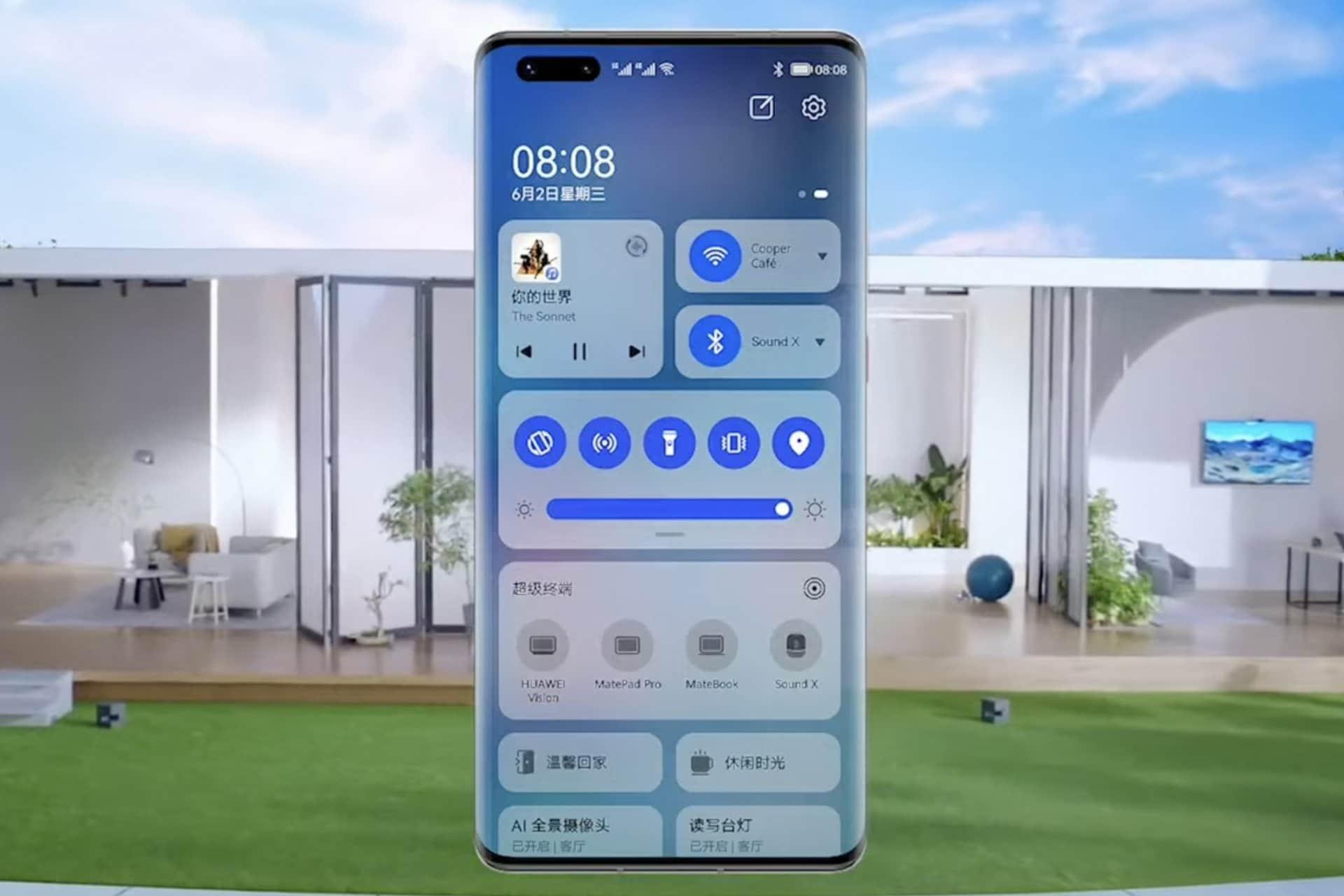 HarmonyOS na chytrém telefonu. Foto: Huawei