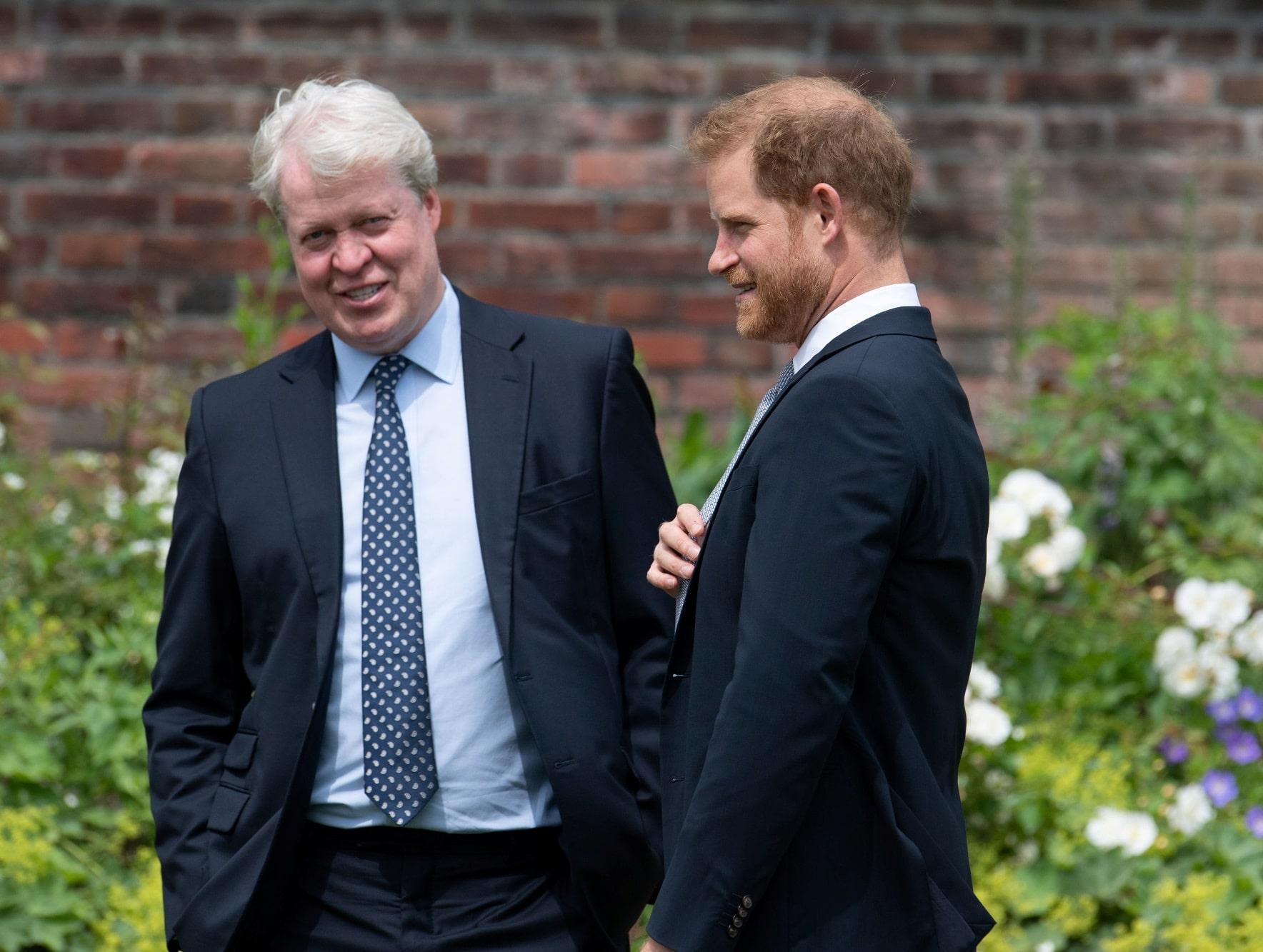 Princ Harry se strýcem Charlesem Spencerem