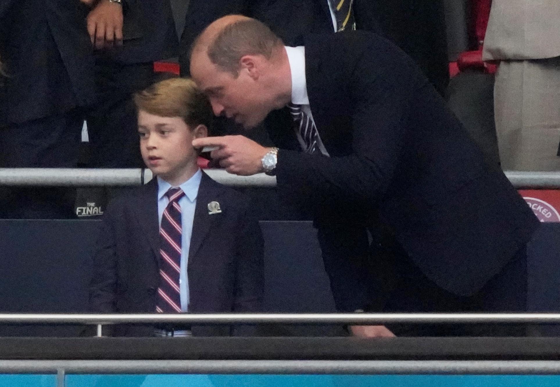 Euro 2020: princ William a princ George