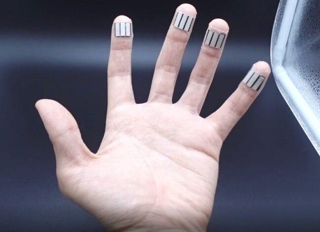 Nabíjení konečky prstů