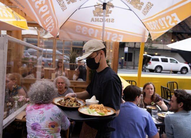 restaurace v New Yorku