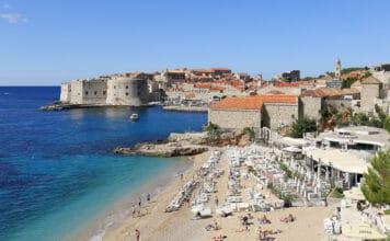 pláže Dubrovník Chorvatsko