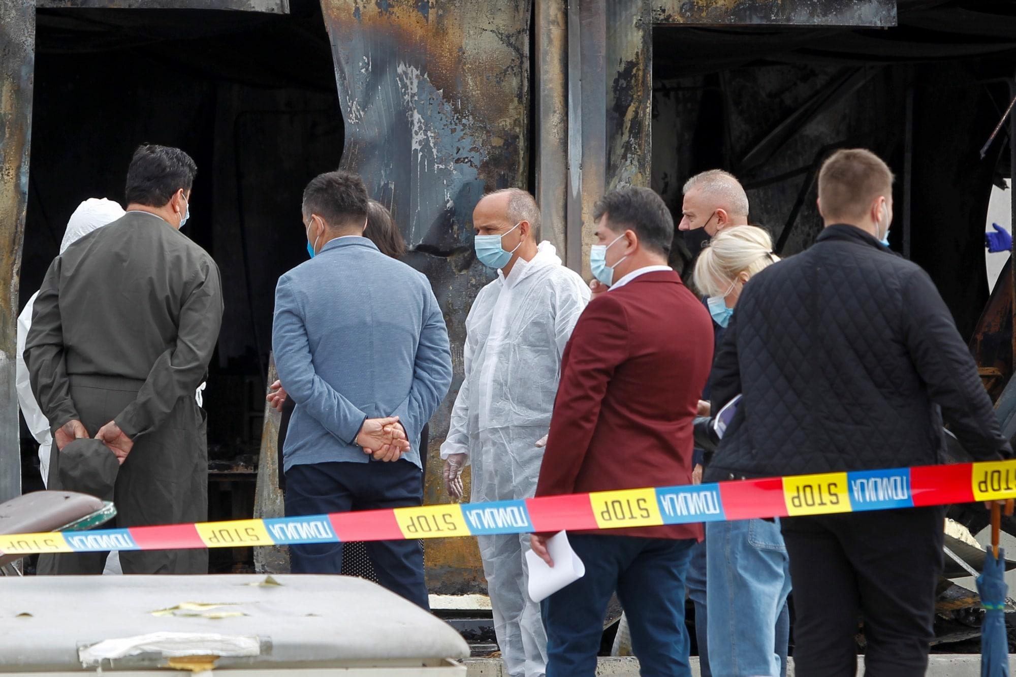 Požár v nemocnici v Severní Makedonii