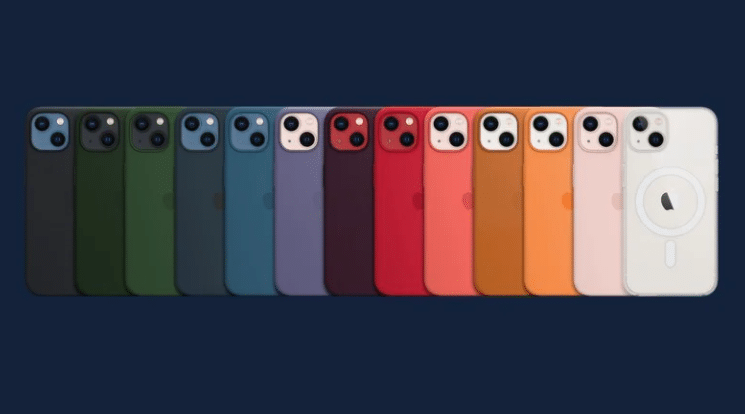 Barevné pouzdra pro iPhone 13