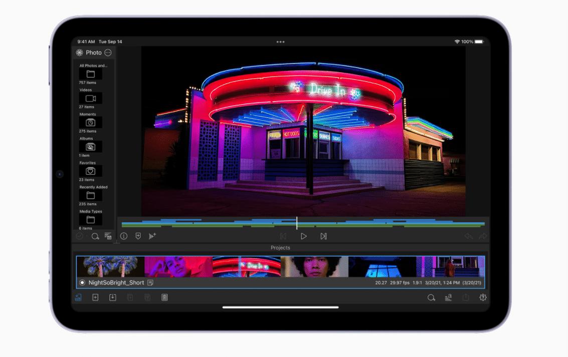 Editování videí na novém iPadu mini
