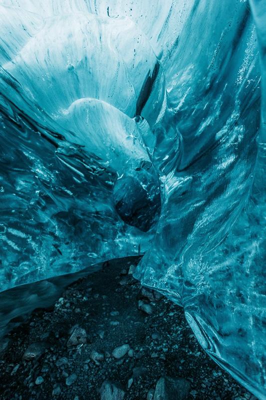 ledová jeskyně na Islandu